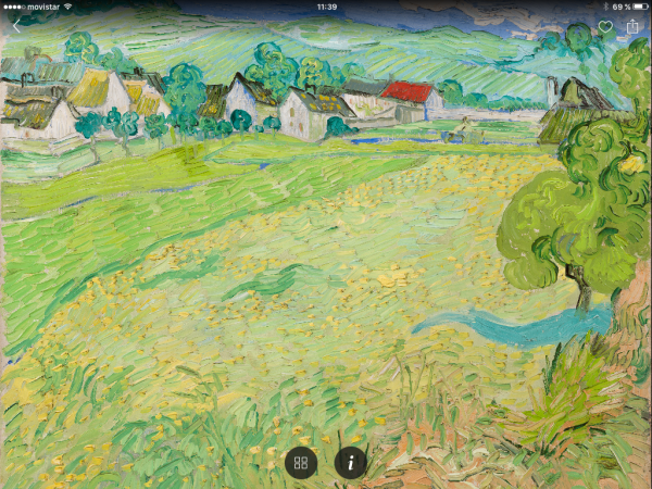 Captura de pantalla App Second Canvas Thyssen